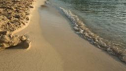 Sea Waves on Sand Beach Footage