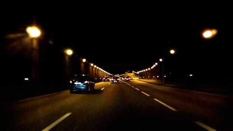 Highway Tunnel 01 Footage