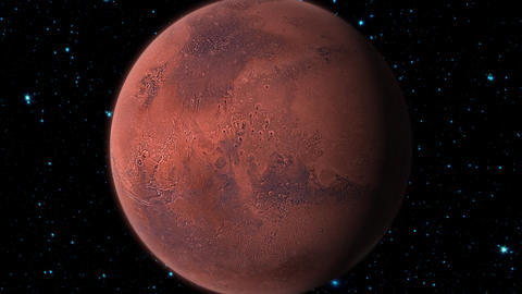 Planet Mars stock footage