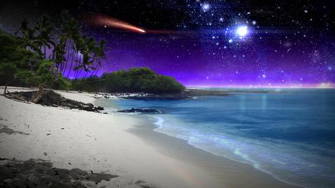 Beautiful Fantasy Beach Stock Video Footage
