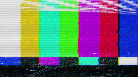Color Bars Signal Interference Footage