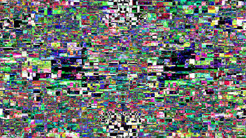 Digital Noise Montage Videos de Stock