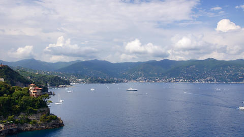 Liguria Coastline Footage