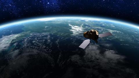 Satellite in Orbit 1 Animation