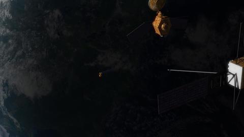 Satellites in Orbit Stock Video Footage