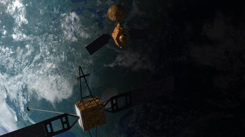Satellites in Orbit Animation