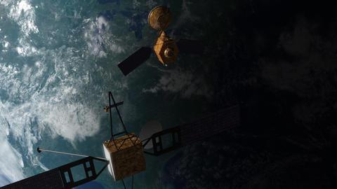 Satellites in Orbit Animation