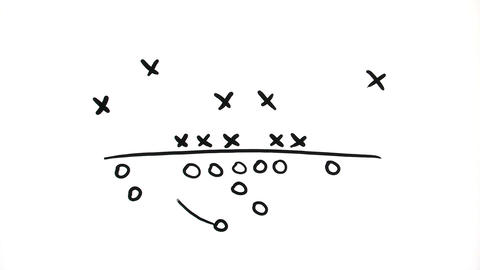 Football Play on White Animation