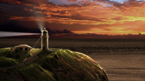 Lighthouse at Sunset Animation