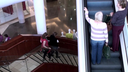 Shopping Centre Stairs and Escalator Footage