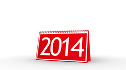 New Year 2014 Calendar (with Matte) Animation