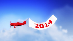 Plane 2014 In Clouds (Loop) stock footage