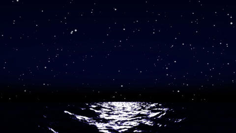 sea night sky 01 Animation
