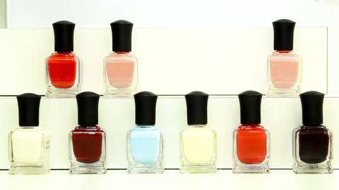 manicure nail polish, stop motion, appears on a table Footage