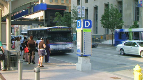 Bus Stop Time Lapse Stock Video Footage