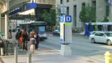 Bus Stop Time Lapse stock footage
