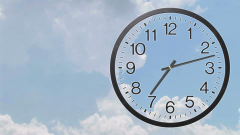 Clock With Clouds Time Lapse 03 Animation