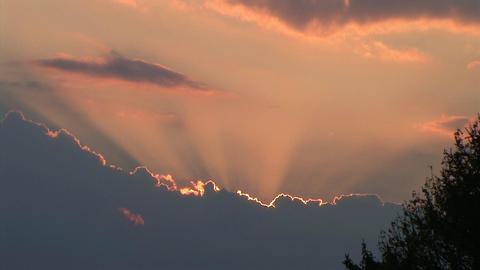 Time Lapse of Beautiful Clouds at Sunset Stock Video Footage