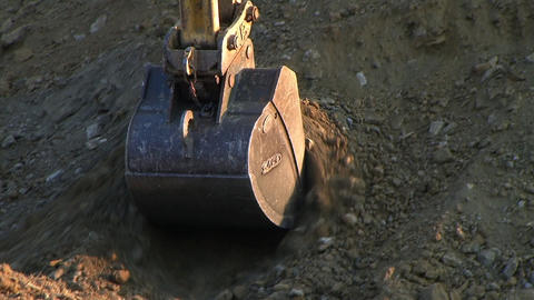 Tracked Crawler Close-up Stock Video Footage