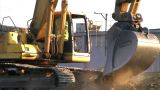 Tracked Crawler Close-up stock footage