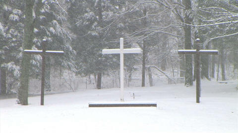 Crosses in Snow Footage