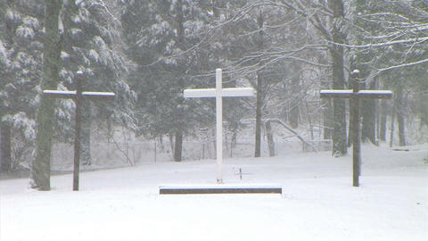 Crosses in Snow Stock Video Footage