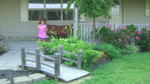 Little Girl Leaving For School Stock Video Footage