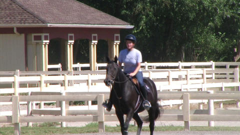 Female Equestrian Student Stock Video Footage