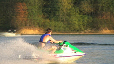 Jet Ski on Lake 02 Stock Video Footage
