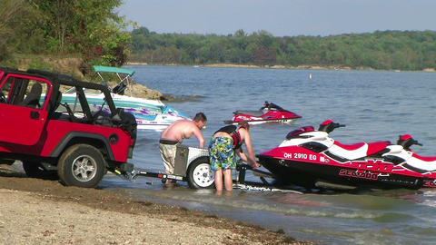 Loading Jet Skis Time Lapse Footage