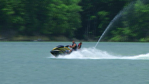 Young Couple On Jet Ski 02 Footage