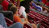 Kids Eating Cotton Candy stock footage