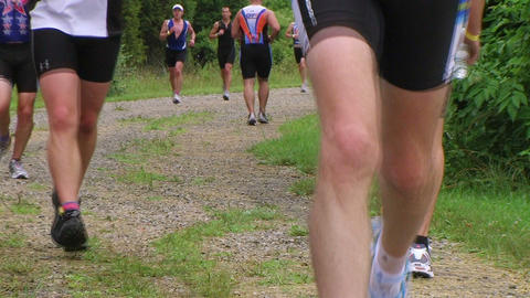 Runners Jogging In Race stock footage