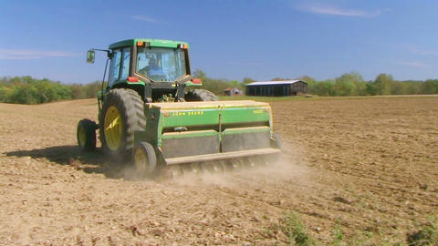 Farmer Sowing Seed Stock Video Footage