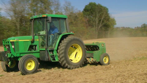 Farmer Sowing Seed 02 Stock Video Footage