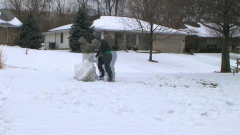 Snowman Time Lapse Footage