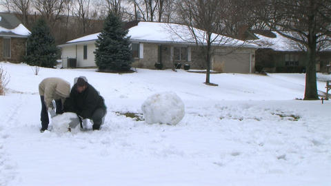 Snowman Time Lapse Stock Video Footage