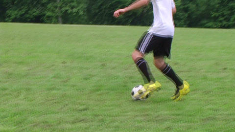 Soccer Player Dribbling Footage