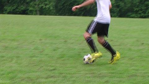 Soccer Player Dribbling ภาพวิดีโอ