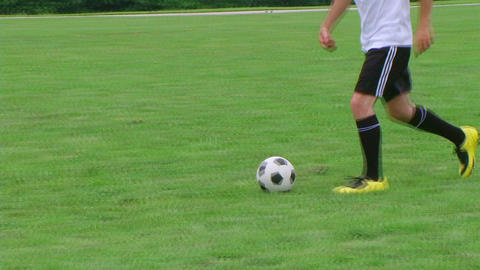 Soccer Player Dribbling 03 Stock Video Footage