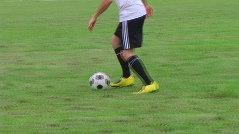 Soccer Player Dribbling 03 Footage