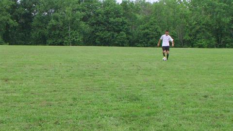 Soccer Goal Kick 02 Stock Video Footage