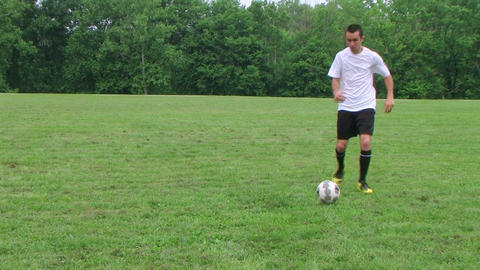 Soccer Goal Kick 02 Stock Video Footage