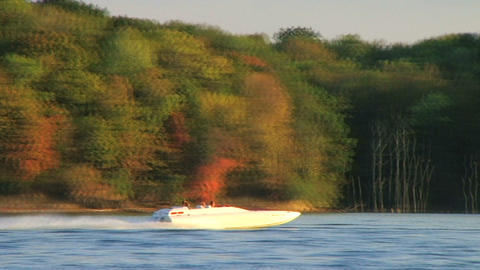 Boating on Lake Stock Video Footage