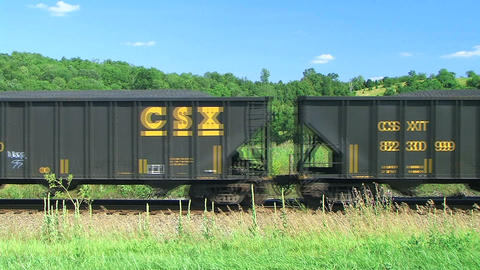 Freight Train in the Country Footage