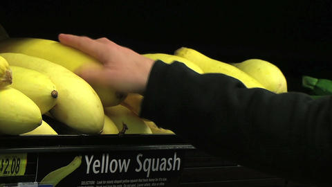 Woman Selecting Squash Stock Video Footage