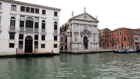 7980 Pan on Venice from boat Stock Video Footage
