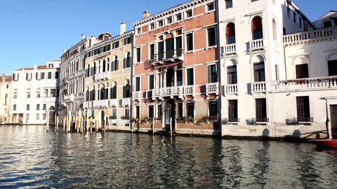 8782 Pan on Venice from boat Stock Video Footage
