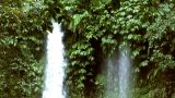 Two Different Waterfall stock footage
