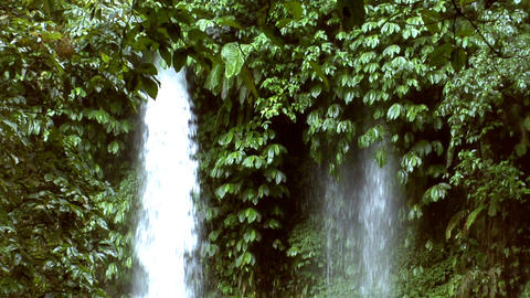two different waterfall Stock Video Footage
